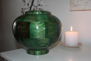Green Peony Irish Urn